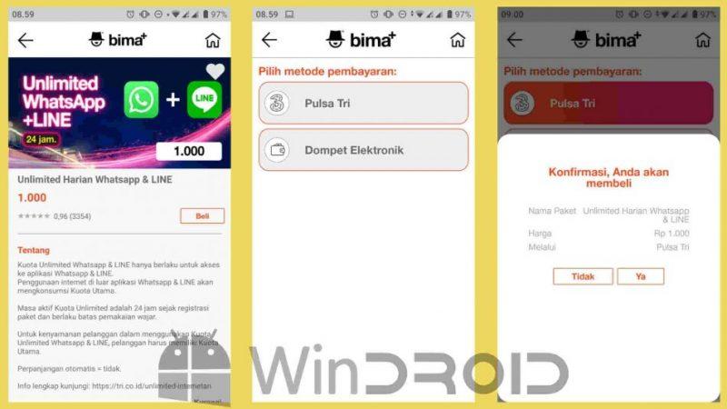 paket LINE dan whatsapp 24 jam