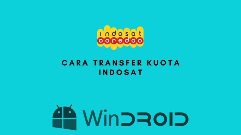 cara transfer kuota kartu indosat
