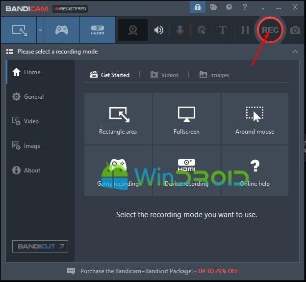 merekam layar pc dengan aplikasi bandicam