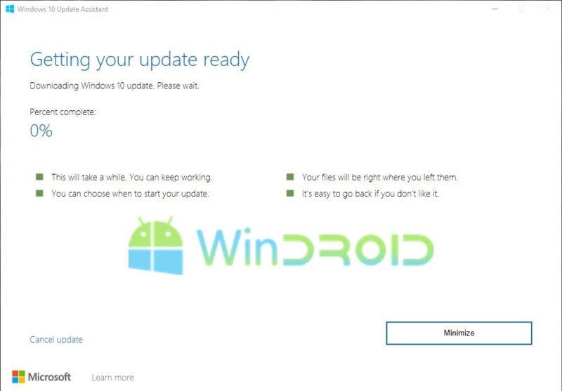 cara update windows 10 dengan cepat