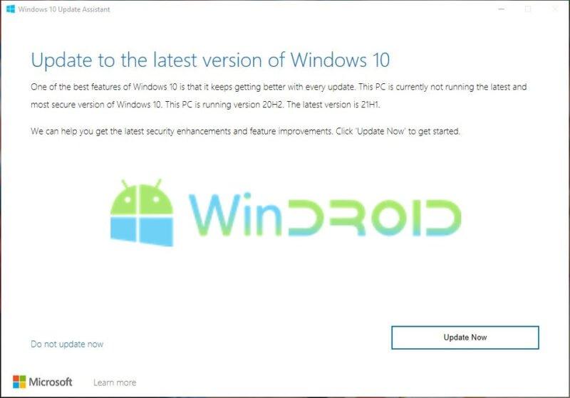 update menggunakan windows 10 update assistant