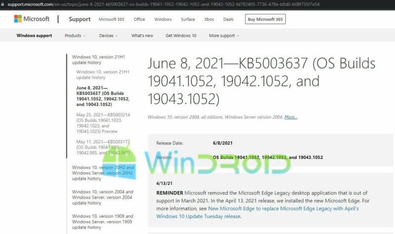 history update windows 10
