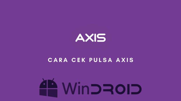 cek pulsa axis dengan mudah